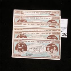 "(10) Crisp uncirculated ""This Note is Legal tender on the Moon Not valid after January 1975"" 25c ""Mo"