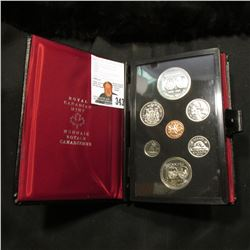 1974 Canada Specimen Set. SS60. Complete in original holder with both Copper-Nickel & Silver Dollar.