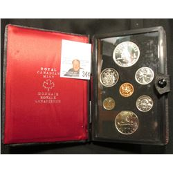 1975 Canada Specimen Set. SS61. Complete in original holder with both Copper-Nickel & Silver Dollar.
