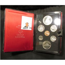 1976 Canada Specimen Set. SS62. Complete in original holder with both Copper-Nickel & Silver Dollar.