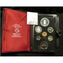 1977 Canada Specimen Set. SS63. Complete in original holder with both Copper-Nickel & Silver Dollar.