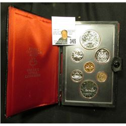 1978 Canada Specimen Set. SS64. Complete in original holder with both Copper-Nickel & Silver Dollar.