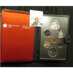 1980 Canada Specimen Set. SS66. Complete in original holder with both Copper-Nickel & Silver Dollar.