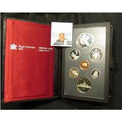 1983 Canada Specimen Set. SS69 Complete in original holder with both Copper-Nickel & Silver Dollar.