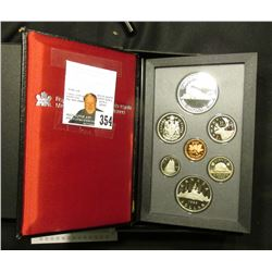 1986 Canada Specimen Set. SS72. Complete in original holder with both Copper-Nickel & Silver Dollar.