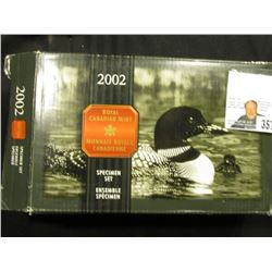 2002 Canada Specimen Set. SS88. Complete in original holder with both Loon Dollar, & $2 Polar Bear.