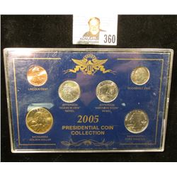 2005 Presidential Coin Collection in a special presentation case. Cent thru Sacagawea Dollar. Gem BU