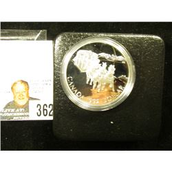 1992 Canada Stage Coach .925 Fine Proof Silver Dollar in original case of issue.