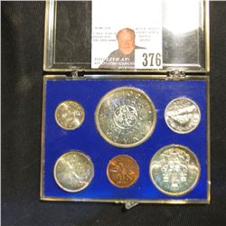 1964 Six-Piece Canada Silver Prooflike case in a special plastic case.
