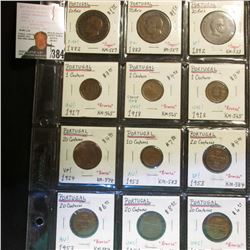(12) Portugal Coins dating between 1882-1958. Including KM527, 533, 565, 574, 583, & 584.