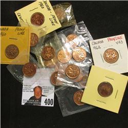 Canada Proof-like Cents: (3) 1960, (2) 61, (2) 62, 63, (5) 64, (2) 65, (2) 67, & 68.