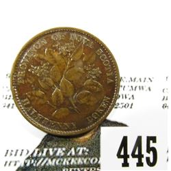 1856 Nova Scotia Halfpenny 'Mayflower' Token, Y5. VF, old lacquer..