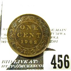 1902 Canada Large Cent, Edward VII, Y-10, EF.