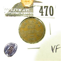 1926 Canada Cent, VF.