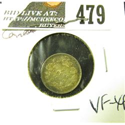1899 Canada Five Cent Silver, VF-EF.