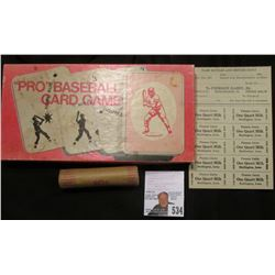 """""Pro"" Baseball Card Game"" in original box of issue; ""Pierson Dairy, Dr. Phone 9-F3 Burlington, Ia."