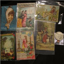 Group of 6 Iowa City, Iowa Advertising Cards dating back to 1880 & 1923 S U.S. Peace Silver Dollar,