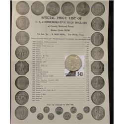 "1939 ""Special Price List of U.S. Commemorative Half Dollars at Greatly Reduced Prices Better Order N"