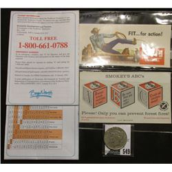 "1940 era Ink Blotter ""Fit…for action! Levi's America's Finest Overall Since 1850…""; ""Canada's Northw"