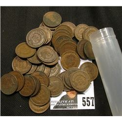(43) Good or Better Indian Head Cents, in a plastic tube.