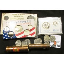 (8) Mixed Statehood Quarters; 1960 D SD Solid-date Roll of Gem BU Cents; 1961 D Solid-date Roll of G