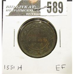 1881H Canada Large Cent, EF.