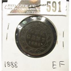 1888 Canada Large Cent, EF.