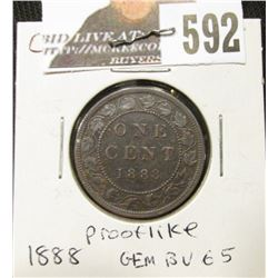 1888 Canada Large Cent, Gem BU 65 red and brown.