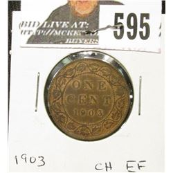 1903 Canada Large Cent, Choice EF.
