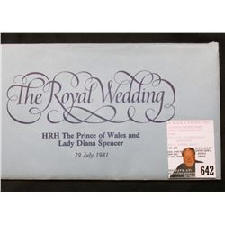 1981 Crown, Gem BU in a very attractive Post Office First Day Cover  The Royal Wedding HRH The Princ