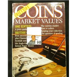 lot: British Coin books, 1992 and 1996 British Coin Market Values and 2009 Collector's Coins GB.