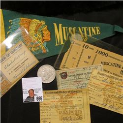"1936 & 37 ""Fraternal Order of Eagles"" Membership card; 1937 ""loyal Order of Moose"" Membership Card,"