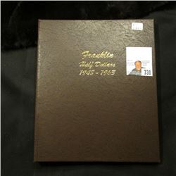 Dansco Coin Album 1948-1963 Franklin Half Dollars. Like New.