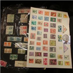 Stock Page with a large variety of blocks of two, uncancelled Mexico Postage Stamps; & 1923 P U.S. P