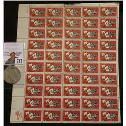 50-Stamp Mint Sheet of 1565-1965 Settlement of Florida Five Cent Postage Stamps; & 1922 D U.S. Peace