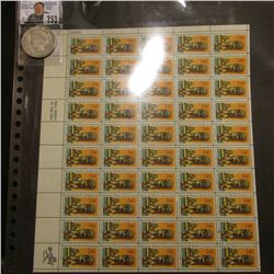 50-Stamp Mint Sheet of National Parks Centennial City of Refuge Hawaii Eleven Cent Postage Stamps; &