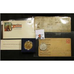 "1988 P ""Young Astronauts"" Bronze, 39mm, Encased and boxed BU Medal; mid 1800 era Polk County Iowa Ro"