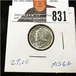 1942 P Mercury Dime MS-66