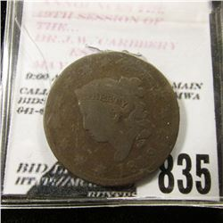 1819/8 U.S. Large Cent. Chocolate Brown, VG.