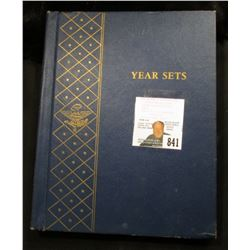 "Used Whitman Album ""Year Sets"", includes Five-piece Sets of 1957 P & D Coins; Five-piece Sets of 196"
