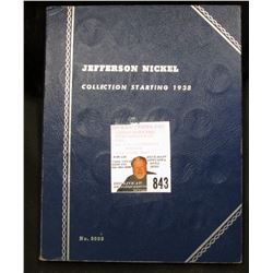 1938 P to 1961 D Partial Set of Jefferson Nickels in a blue Whitman folder, includes all the Silver