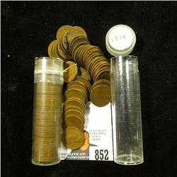 (2) Solid Date but possibly mixed mint mark Rolls of 1914 & 16 D U.S. Lincoln Wheat Cents in plastic