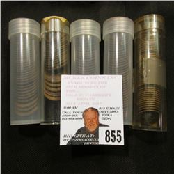 (50) 1911, (19) 1914, (31) 1915, (31) 1916, (35) 1917 Lincoln Cents in plastic tubes. Various mint m