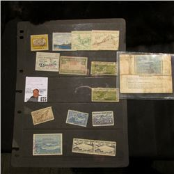 (14) Various State Hunting or fishing Stamps & a United States Coast Guard Federal Boating License w