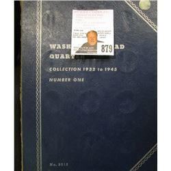 1932-45 Nearly Complete Set of U.S. Silver Washington Quarters in a blue Whitman folder, includes th