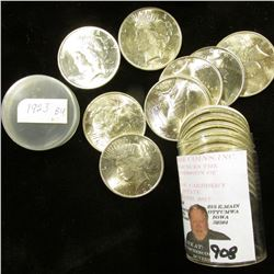 1923 P Original BU Roll of U.S. Peace Silver Dollars, (20 pcs.).