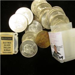 "1947-48 Roll of Mexico .900 fine Silver Five Peso Coins originally sold by ""Blanchard"" Coin Company"