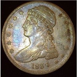 1837 Reeded Edge Bust Half Dollar. Fine.
