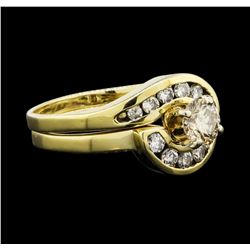 0.40 ctw Diamond Ring - 14KT Yellow Gold