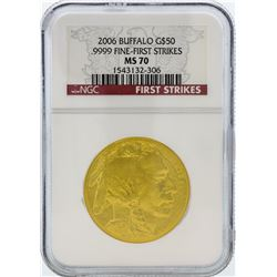 2006 NGC MS70 Fine-First Strikes $50 American Buffalo Gold Coin